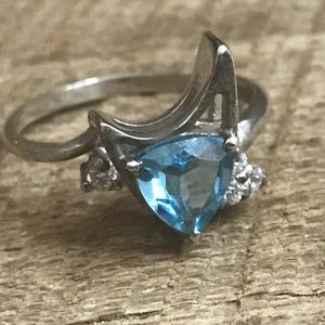 Star Trek Sterling Silver Blue Topaz Ring